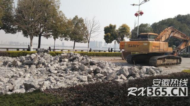 """安庆湖心中路改造工程进展"""""""