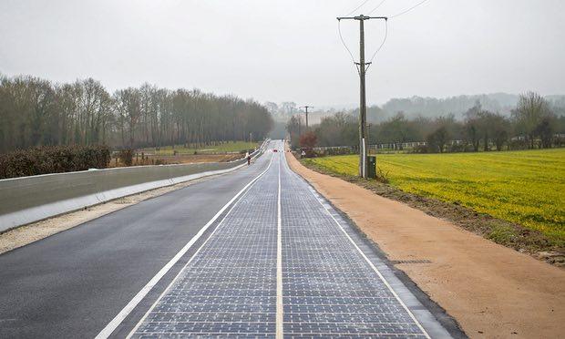 全球首条 法国铺太阳能道路