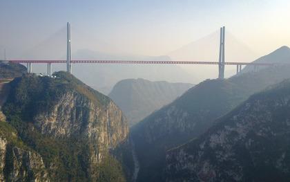 造价47.8亿 世界第一高桥通车