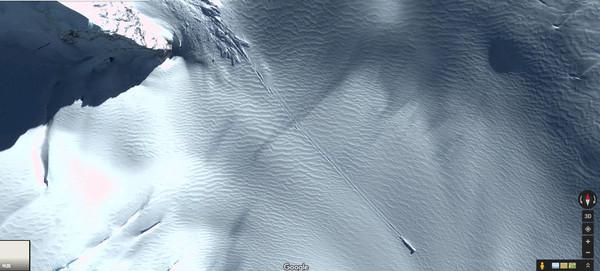 ▲▼南极洲出现一个巨型物体。(图/翻摄自Google Map)
