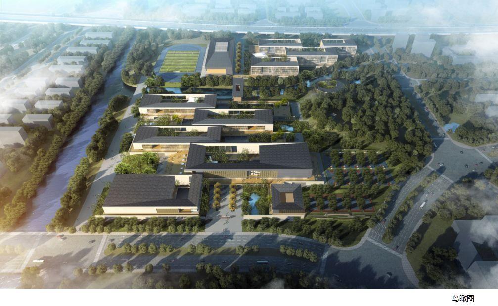 马鞍山红星中学新校区效果图首次曝光,2020年9月前交付