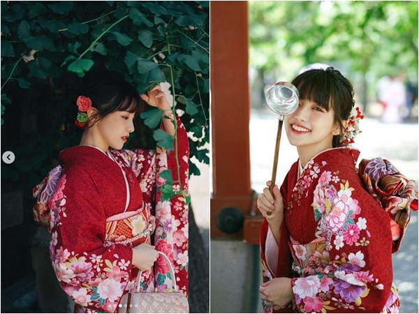 """蔡瑞雪""""和服櫻花妹""""造型超美! 絕美側臉淺笑電暈日網友"""