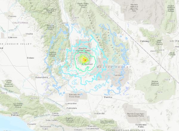 南加州又震了!规模5.4当地清晨一阵摇 深度仅7.1公里