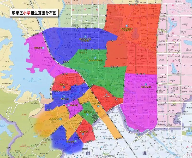 滁州琅琊区2021年义务教育小学初中招生范围划分方案